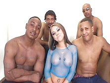 Julia Bond Takes Her Clothes For A Couple Of Black Hunks And Get