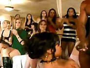 Stripper Cock Sucked By Black Cfnm Babe In Group At Party