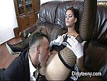 Long Hard Fucked Teen Maid Receives All The Big Cock Cum On Her