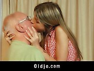 Sexy Teen Blonde Fucks A Dirty Old Man