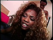Fuckish Black Chick Is Getting Used To The Taste Of White Banana