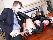 Hot Big Titted Dark Haired Wife Has Some Super Powers