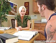 Sexy Downblouse Of This Blonde Brandi Edwards Entices Man For Ha
