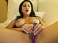 Amazing Webcam Scene With Curvy Brunette Playing With A Dildo
