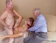 Old Granny Casting Couch And Girl With Old Boss Duke And Glenn G