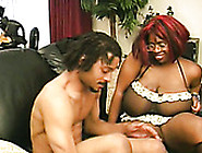 Obese Black Nympho Vanessa Bazoomz Is Poked Doggy On The Floor