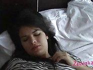 An Amateur College Girl In Zebra Printed Dress Got Fucked Until