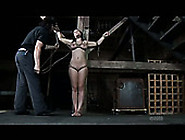 Shibari Busty Brunette Gets Her Pussy Tied Up By Kinky Four Eyed