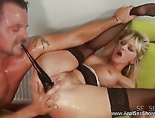 Hot Blonde Milf Is About To Have Anal Sex With A Man From Her Ne