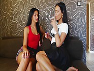 Smoking Fetish Lesbians 076 Passionate Kissing