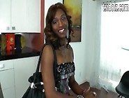 Black Shemale Chanel Couture Gets Anal Fucked And Facial