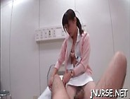 Sexy Nurse Shows Off Ass While Sucking Dick