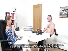 Female Agent Gets Huge Cunt Cumshot In Casting