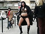 My Dark-Haired Slutty Wife Flahes Her Goodies In Public