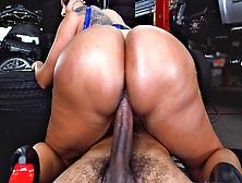 Kiara Mia Rode The Cock At The Mechanic Shop