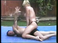 Topless Mixed Oil Wrestling