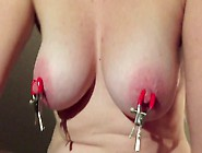 Slow Motion Amateur Wife Nipples Boobs Clamp Tits Bouncing