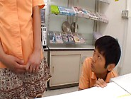 Teen Grocery Store Worker Gets A Creampie In The Bathroom