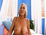 What A Beautiful Milf With Massive Melons Sucks Dong
