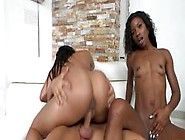 Bigbutt Ebony Beauties Slammed In Threesome