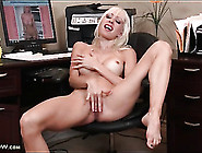 Slender Solo Mom Masturbates Pussy In Office