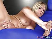 Masturbating Milf Tugging Gimps Hard Cock