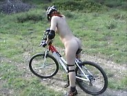 Risky Naked Ride With My Bicycle In Public Forest Well Known For
