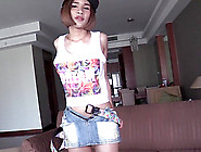 Young Thai T-Girl Benty Takes Off Her Denim Miniskirt
