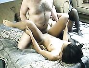 Breath Taking Ffm Threesome With Ebony Teen And Slutty Milf