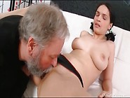 Old Guy Sucks On Teen Tits And Wet Pussy
