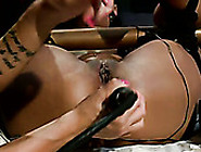 Electro Mistress Punishes Anal Hoel And Pussy Cave Of Ebony Chic