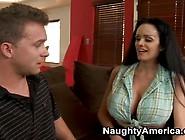 Lady All Over Huge Jugs Bonks Son's Friend