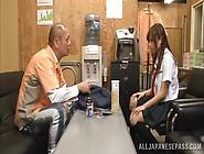 Japanese Schoolgirl Rina Rukawa Sucks Hard Cock