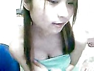 Girl Playing In Front Of Webcam