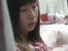Asian Teen In Pyjamas Masturbates In Cute Voyeur Porn Video