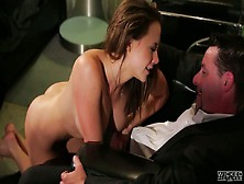 Cum-Thirsty Bitch Chanel Preston Gives Great Tugjob Standing On