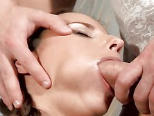 Sweet Whore Claudia Rossi Getting Her Warm Mouth Ripped Hard By