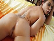 Fresh Load Of Cum Slides Down Her Sexy Buttocks
