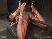 Slutty Ebony Chick Cupcake Sinclair Gets Punished In The Dark Ro