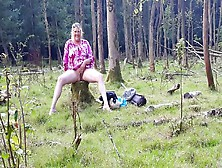 Mature Couple Forest Piss Play
