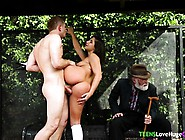 Real Schoolgirl Fucked By Bigdick Outdoors
