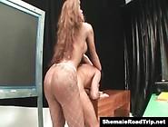 Hung Shemale Mirella Dominates Her Man