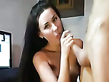Amazing Long Haired Palatable Brunette Was Fucked From Behind On