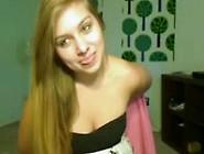 Hot Teen Puts A Little Webcam Show
