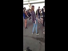 Drunk Girl Pees Her Pants In Public
