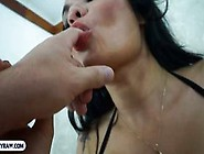 Busty Shemale Bitch From Brazil Blowjob And Butt Fuckin