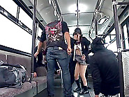 Fantastic Asian Girls Get Fucked By Nasty Man In A Bus
