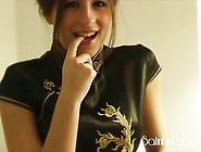 Satin Fetish Teen Ena Wants Him To Cum In Her Mouth And Dres