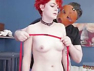 Sara Rope Bondage Teen Extreme Big Dildo In Pussy And