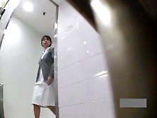 Hidden Japanese Nurse Toilet Masturbation 2